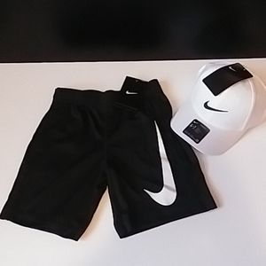 NIKE DRI FIT BOYS SHORTS AND NIKE HAT NWT